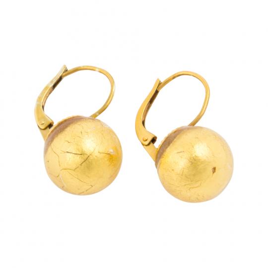 Ohrringe aus Murano Perle, gold.