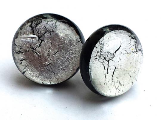 Ohrstecker »Midnight Moon«, silber.