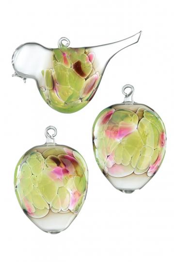 Osteranhänger »Vogel & Eier«, grün.