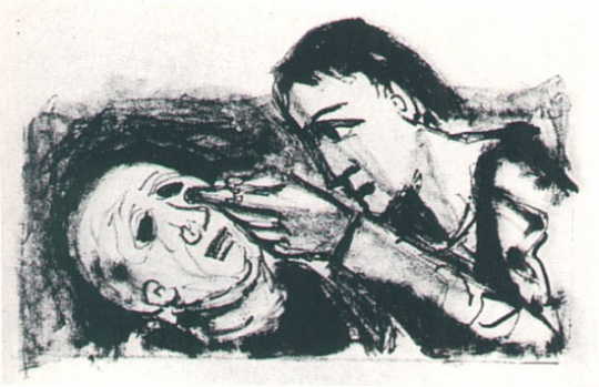 Otto Dix. Die Blindenheilung.
