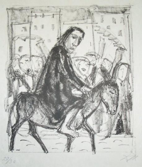 Otto Dix. Einzug in Jerusalem.