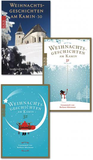Paket Weihnachtsgeschichten am Kamin.
