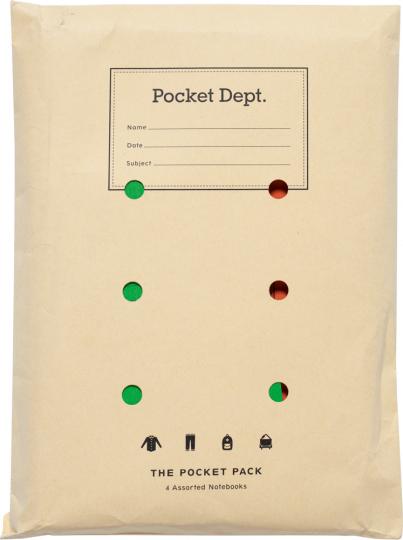 Paket »Vintage Büro«. 4 Notizbücher.