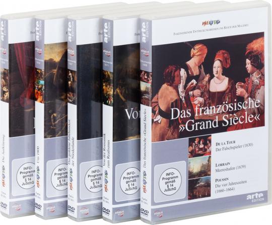 Palettes Set. Glanzzeit der europäischen Malerei. 16. - 19. Jahrhundert. 5 DVDs.