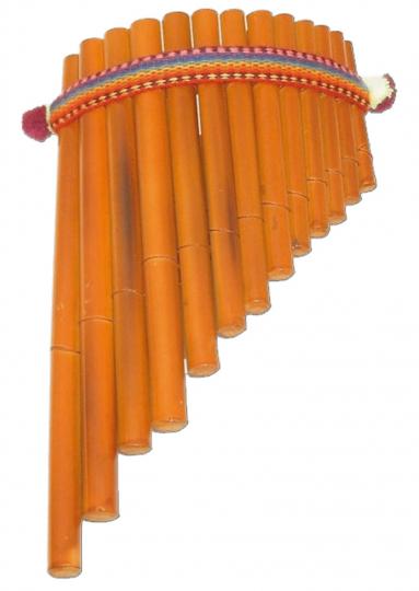 Panflöte Bambus 30x17cm