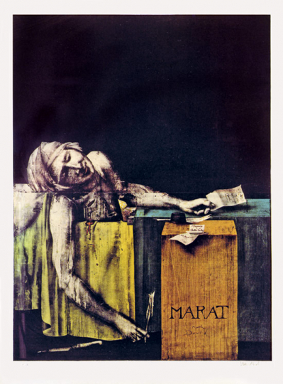 Paul Wunderlich. »Marat. A Charlotte Corday«, 1989.