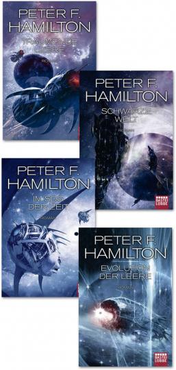 Peter Hamilton. Das dunkle Universum. Der komplette Zyklus. 4 Bände.