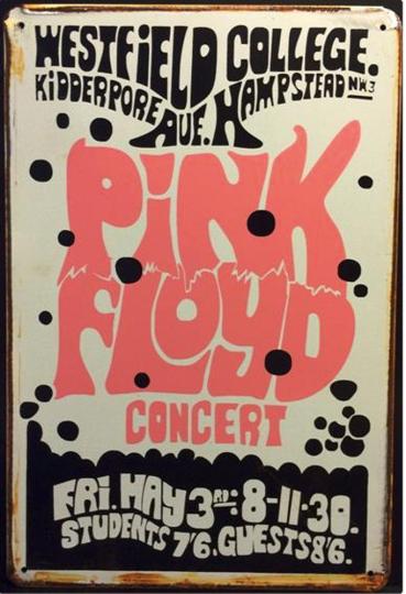 Blechschild »Pink Floyd«.