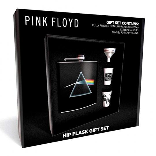 Pink Floyd Flachmann Set. Trinkbechern und Trichter.