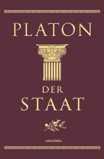 Platon. Der Staat. Cabra-Leder-Ausgabe.