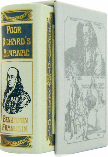 Poor Richard's Almanac - Leder-Mini-Ausgabe im Schmuckschuber