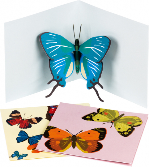 Pop-up-Grußkarten-Set »Die Schmetterlinge«.