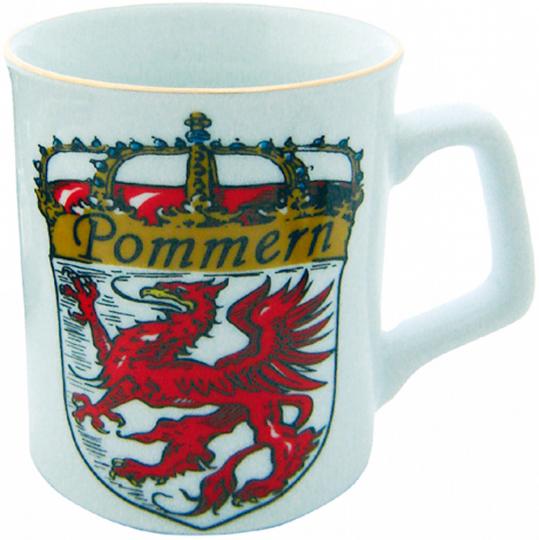 Porzellan-Becher Pommern.