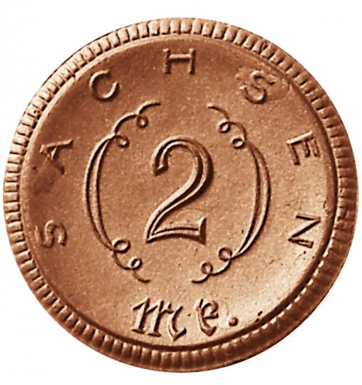 Porzellan-Münzsatz 1920/1921 - Notgeldmünzen des Freistaats Sachsen