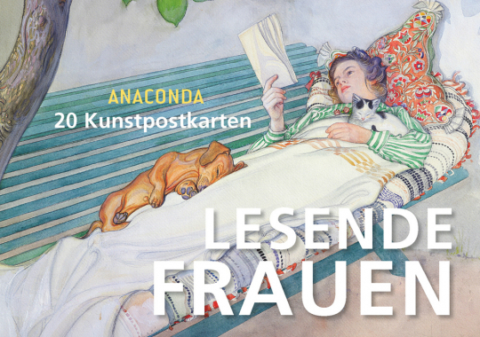 Postkartenbuch Lesende Frauen.