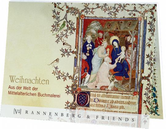 Postkartenbuch Weihnachten - Aus der mittelalterlichen Buchmalerei