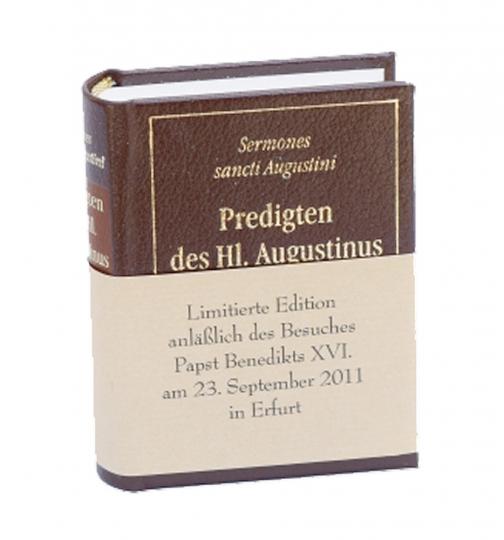 Predigten des Heiligen Augustinus - Miniaturbuch mit Cabraleder-Einband