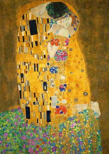 Puzzle Gustav Klimt »Der Kuss«.