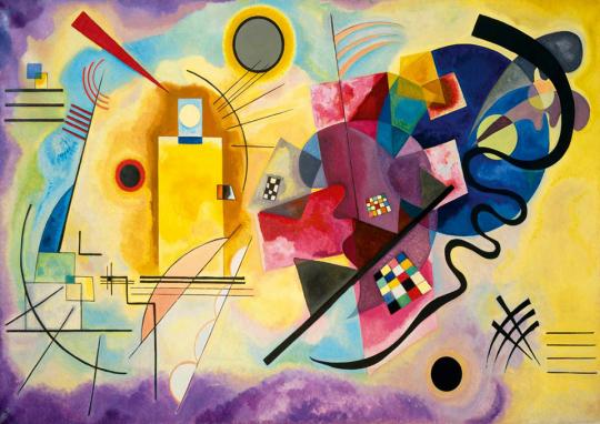 Puzzle Wassily Kandinsky »Gelb Rot Blau«.