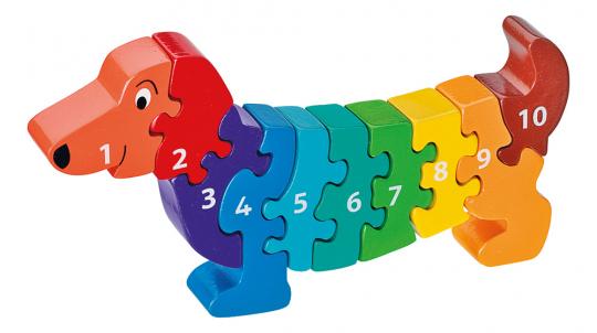 Puzzle »Hund 1-10«.