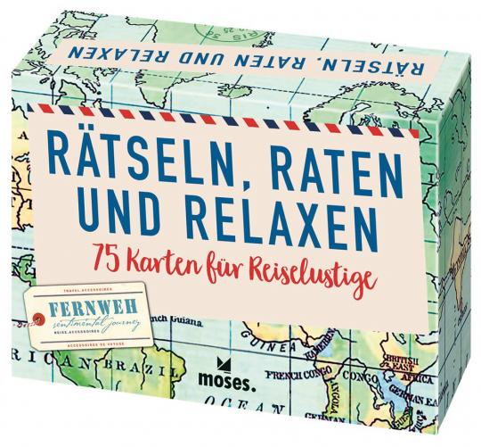 Rätsel, Raten und Relaxen. 75 Karten für Reiselustige.