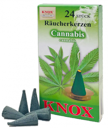 Räucherkerzen Cannabis - 24 Stück, Größe M