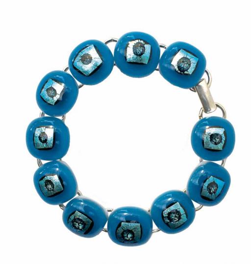 Rave-Armband, türkis.