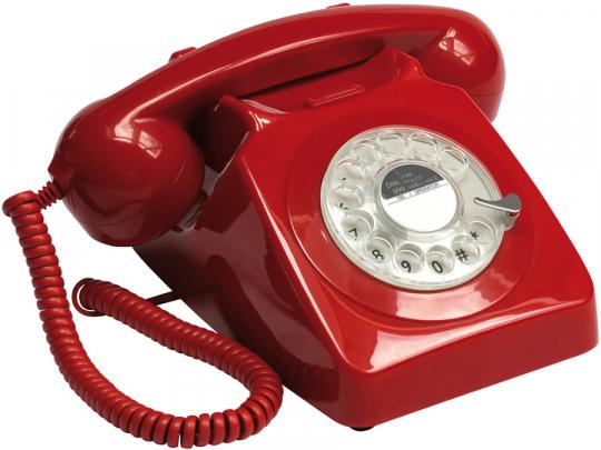 Retro-Telefon »Rotary«. Rot.