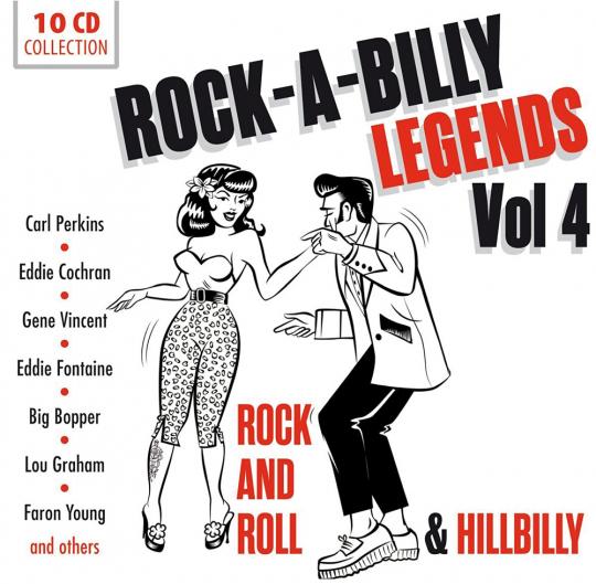 Rock-A-Billy Legends Vol. 4. 200 Songs auf 10 CDs.