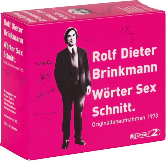 Rolf Dieter Brinkmann. Wörter Sex Schnitt. Originaltonaufnahmen 1973. 5 CDs.