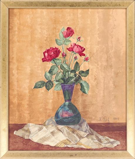 Rosen in einer Vase. Karl Dietz (1883-1963)
