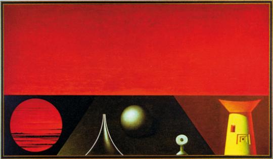 Rudolf Hausner. »Abendlandschaft.«
