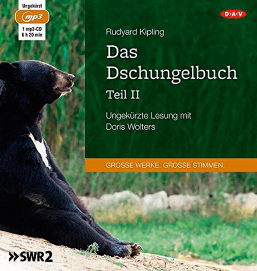 Rudyard Kipling. Das Dschungelbuch Teil II. Hörbuch. 1 CD.