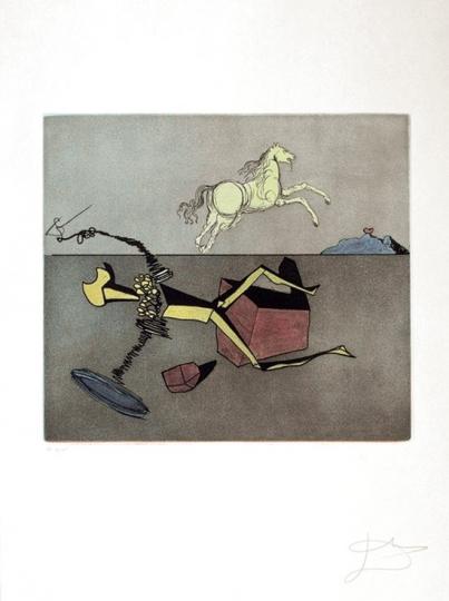 Salvador Dali Don Quijote (H) - »Aspiration« aus der Suite »Historia de Don Quichotte de la Mancha«