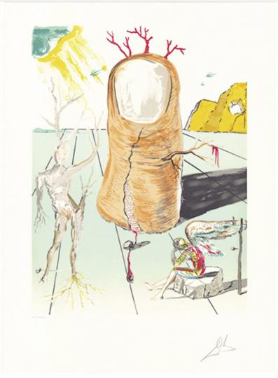 Salvador Dali »Retrospect II« aus der Suite »La Vision del Angel del Cap del Creus.«.
