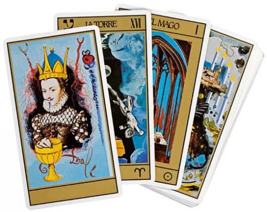 Salvador Dalís Tarotkarten-Set.