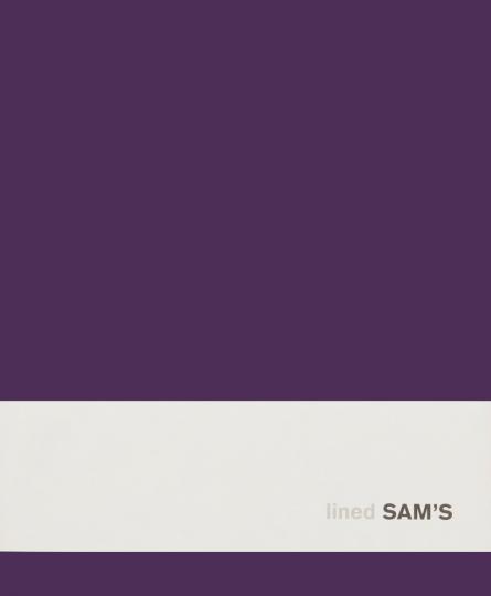 Sam's Notizbuch, medium, lila & liniert.