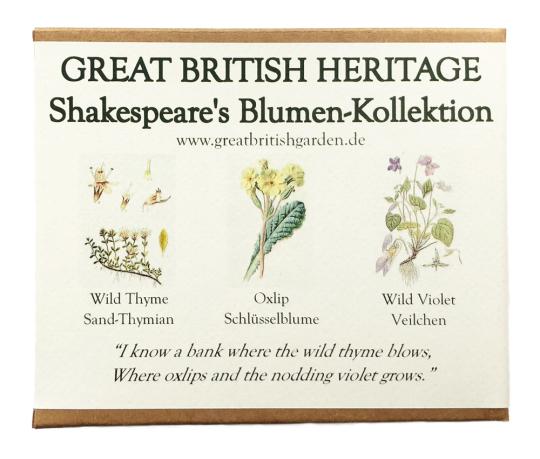 Samen-Kollektion »Shakespeare's Blumen«.