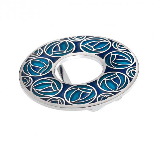 Schal Ring Charles M. Mackintosh »Rose«, türkis.