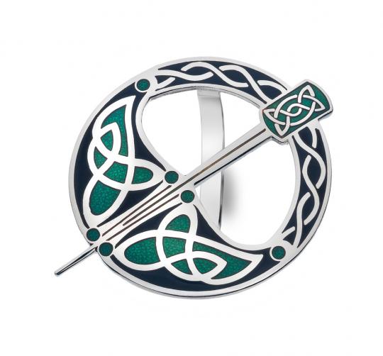 Schal Ring »Keltische Tara-Brosche«, schwarz-grün.
