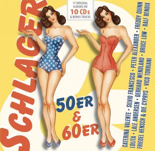 Schlager 50er & 60er - 17 Original-Alben + Bonus Tracks 10 CDs