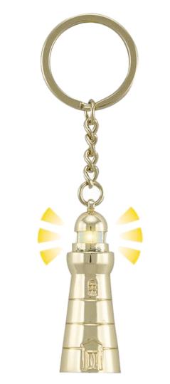 Schlüsselanhänger Leuchtturm mit Blinklicht