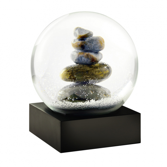 Schneekugel »Steine«.