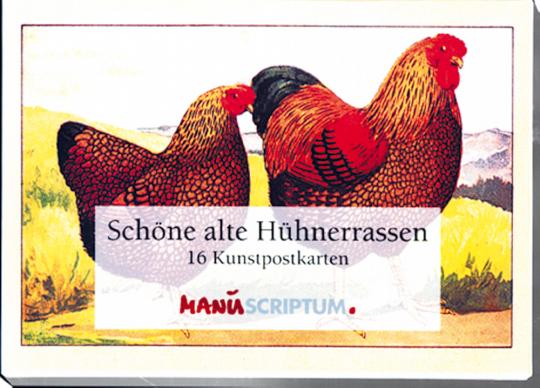 Schöne alte Hühnerrassen - 16 Kunstpostkarten