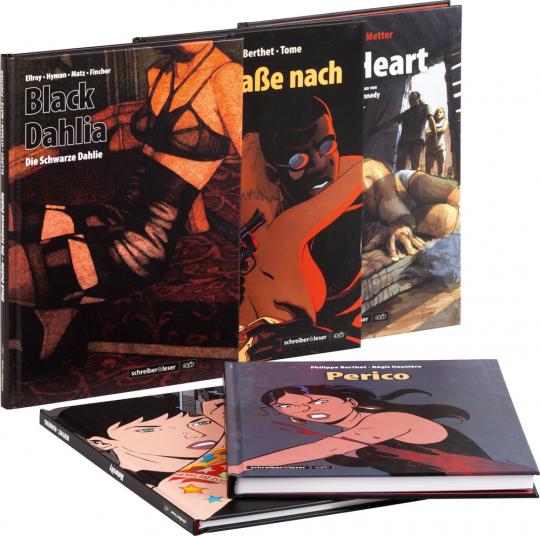 Schreiber und Leser: Krimi Noir Graphic Novel. 5 Bände im Set.
