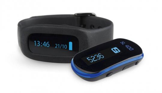Schrittzähler und Schlafkontrolle.