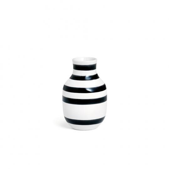 Schwarz-weiße Vase »Omaggio, klein«.