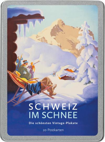 Schweiz im Schnee. Die schönsten Vintage-Plakate. Postkarten-Set.