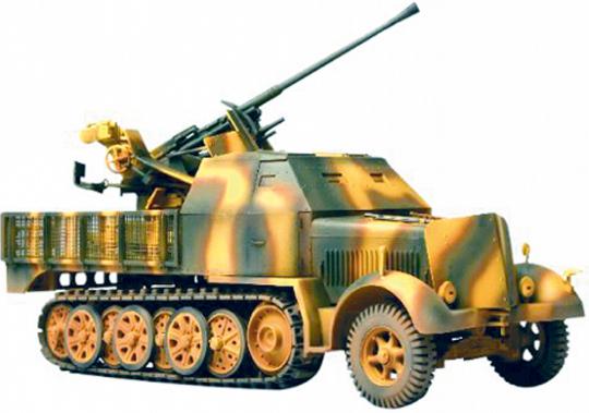 SDKfz Kfz.7/2 mit 37 mm Flugabwehrgeschütz - Modell 1:72