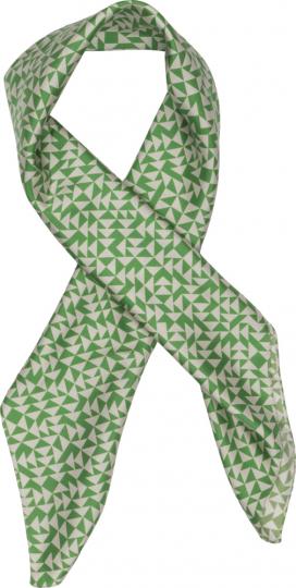 Seidentuch nach Anni Albers »Design E«, grün.
